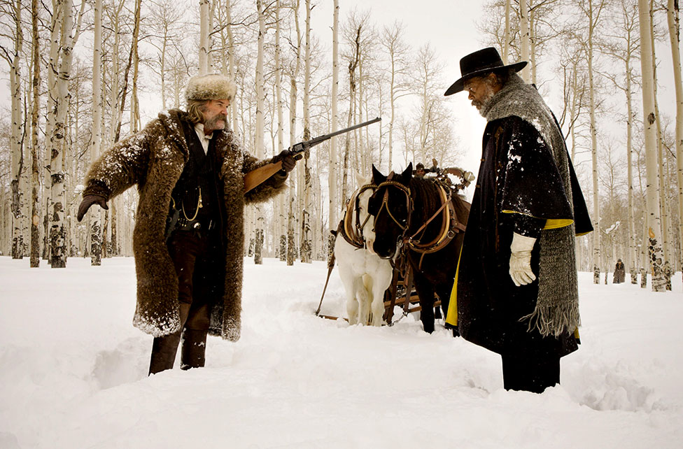A film still from The Hateful Eight, 2016