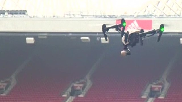 Drone at Old Trafford