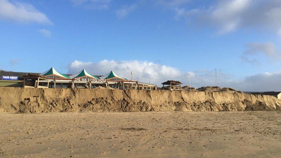Perranporth sand cliffs