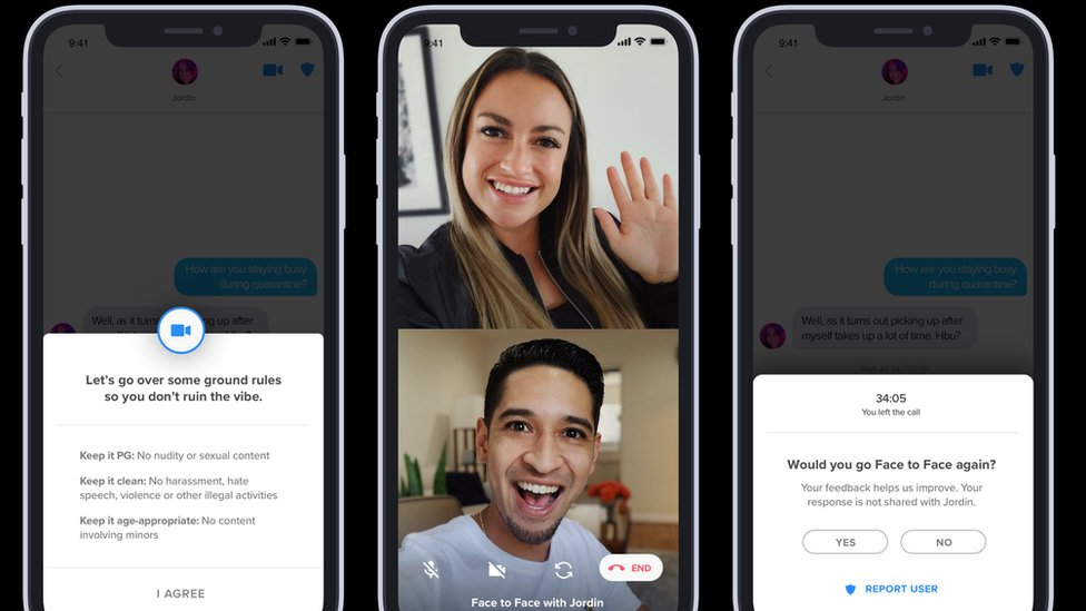 Tinder Offers Face To Face Video Chats For Potential Matches Bbc News