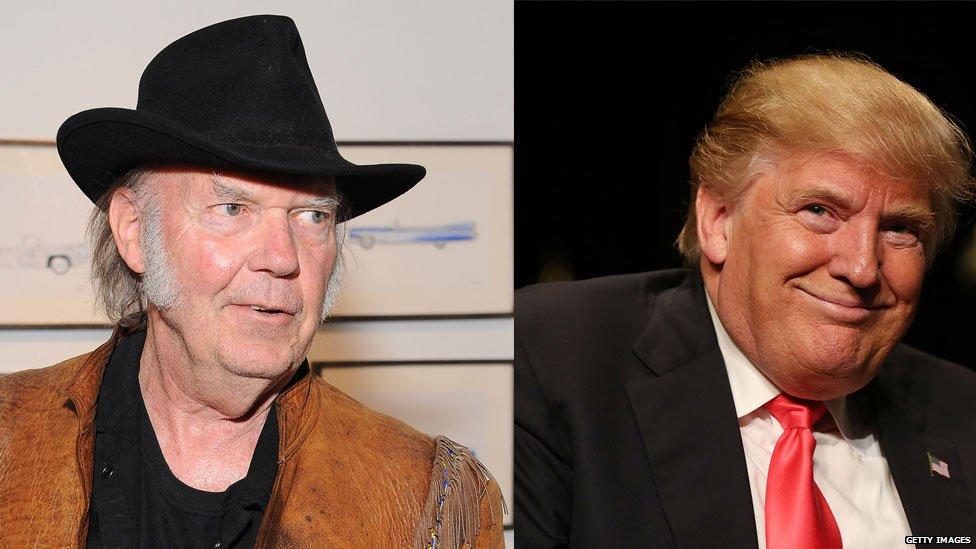 Neil Young vs Donald Trump