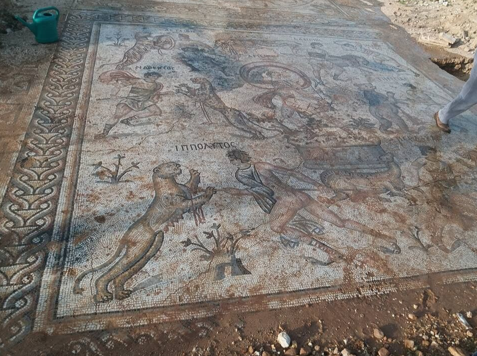 Mosaic excavated in Syria