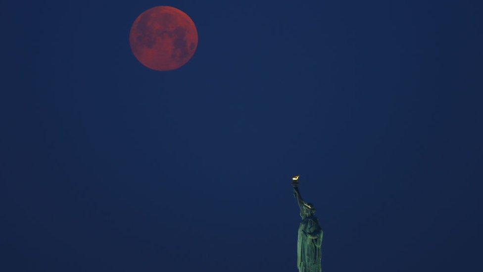 Superluna de flores en Nueva York