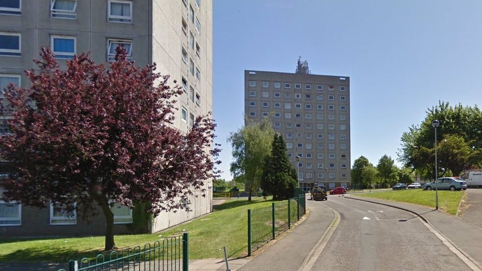 Fire fear flats in Rugby set for demolition