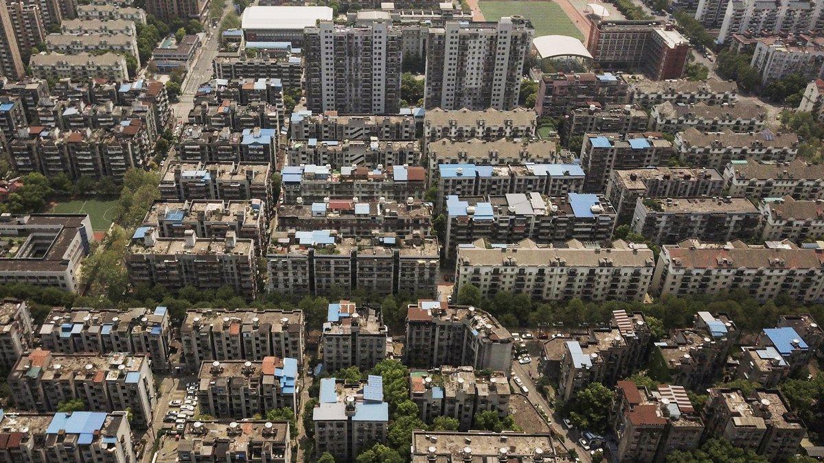 Edificios residenciales en Wuhan, China, abril de 2020
