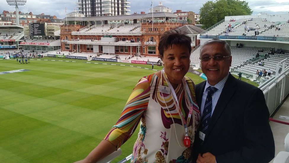 Baroness Scotland tweeted a photograph of herself with Lord Patel in 2016