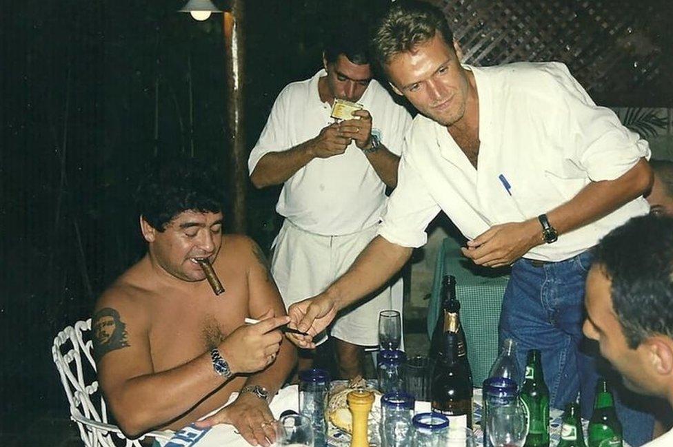 Maradona en Cuba