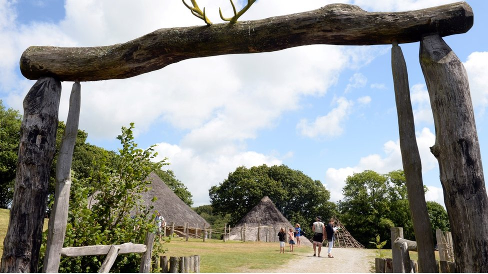 Roundhouses at Castell Henllys Iron Age Village
