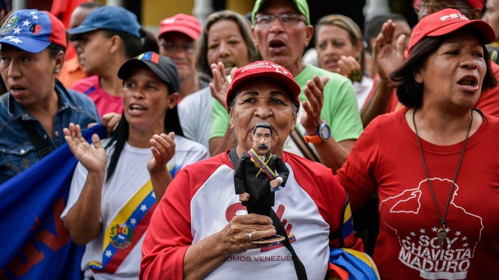 Seguidores de Maduro.