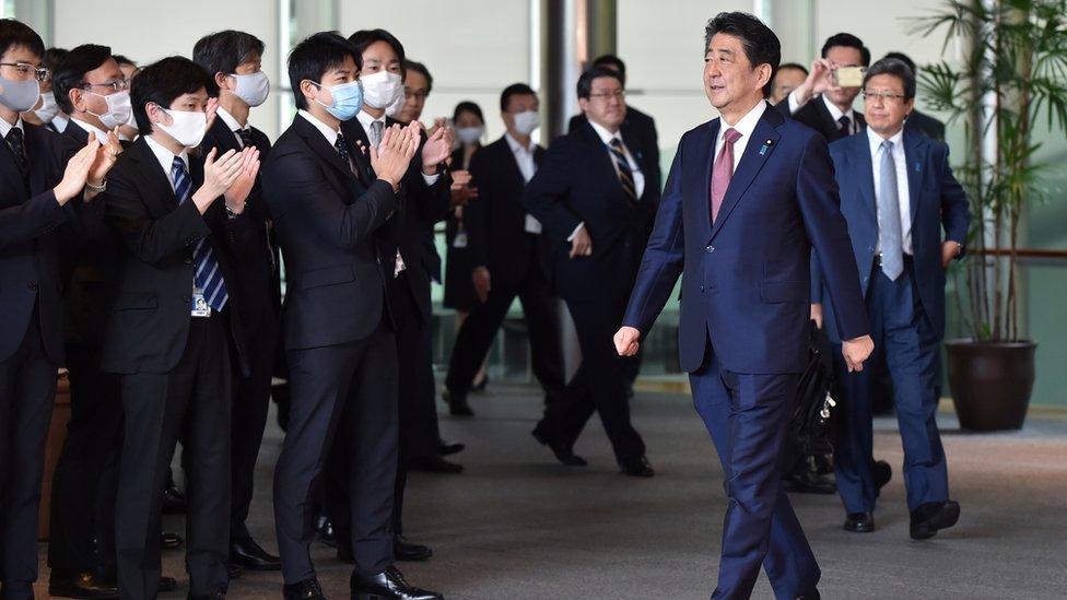 Former premier Shinzo Abe