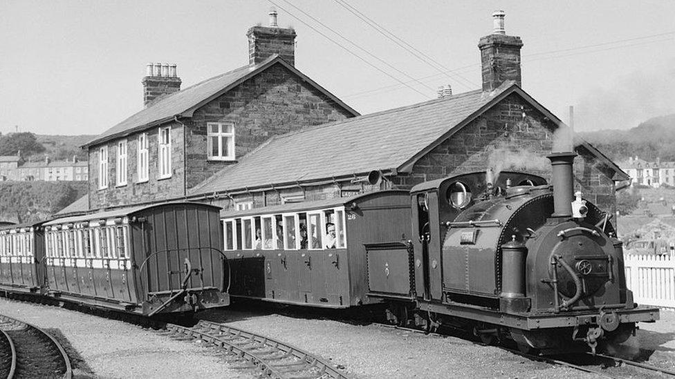 'Prince' at Porthmadoc station, Wales, 1963.