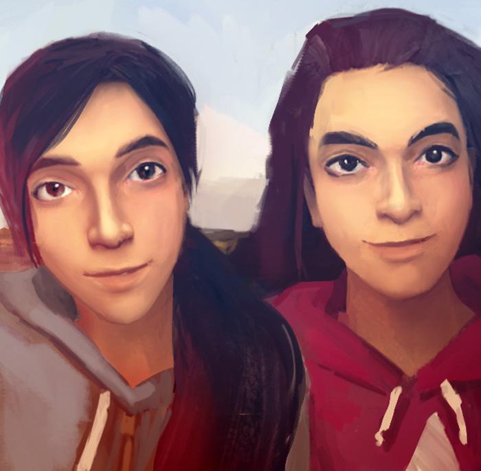 Anna y Lauren.