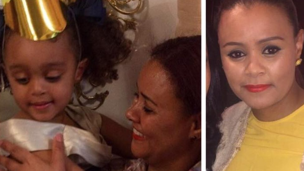 Photos of Amalahmedin and three-year-old daughter Amaya