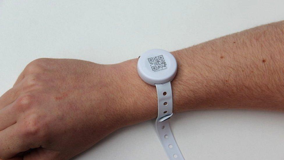 Microshare wristband