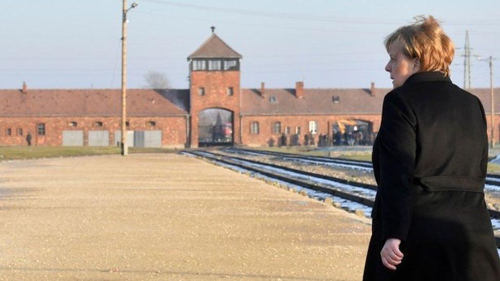 Mrs Merkel at Auschwitz-Birkenau