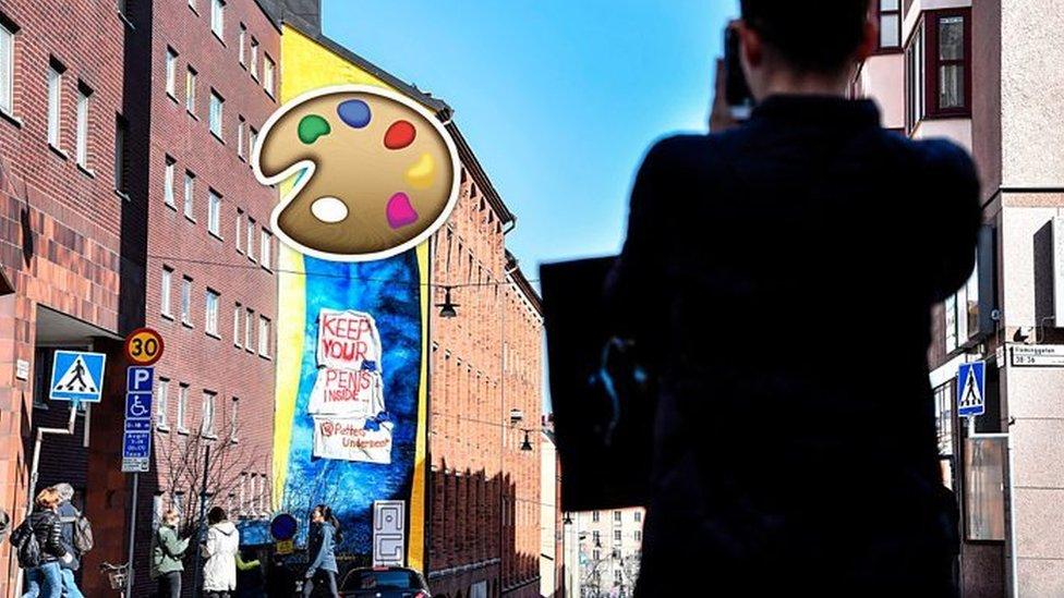 У Стокгольмі знищать гігантський мурал-пеніс через скарги сусідів