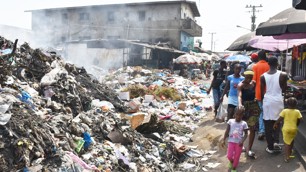 Clara Town slum in Monrovia Liberia