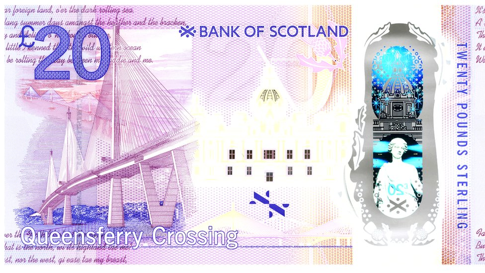 The back of the commemorative note