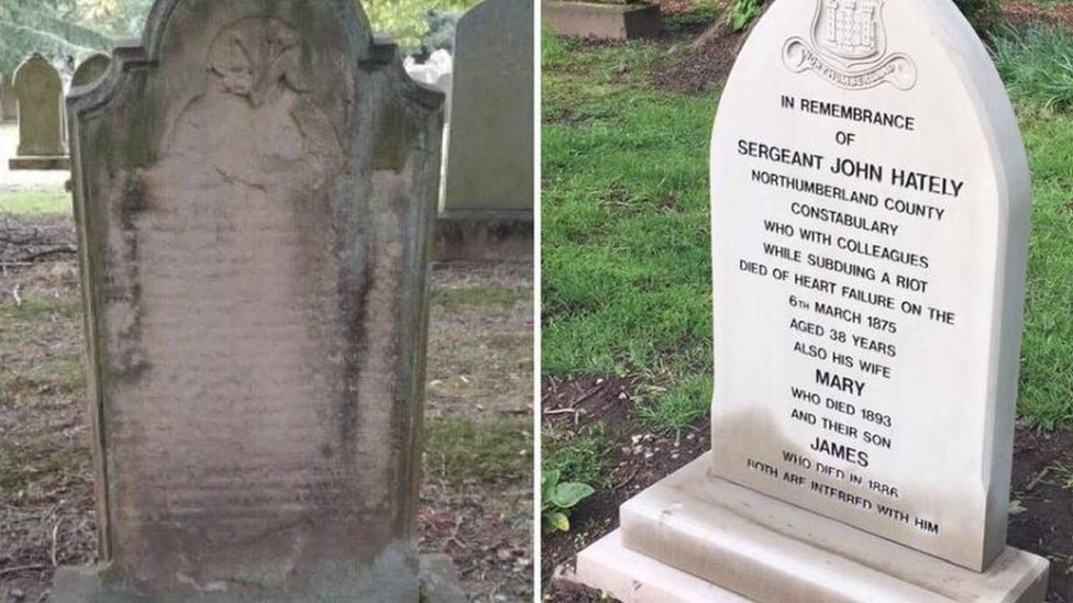 New memorial to Alnwick police officer killed in 1875