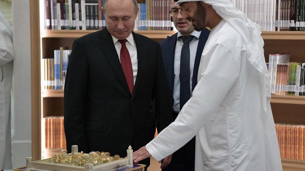 الرئيس بوتين في الإمارات