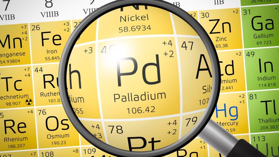 El paladio es considerado un metal precioso.