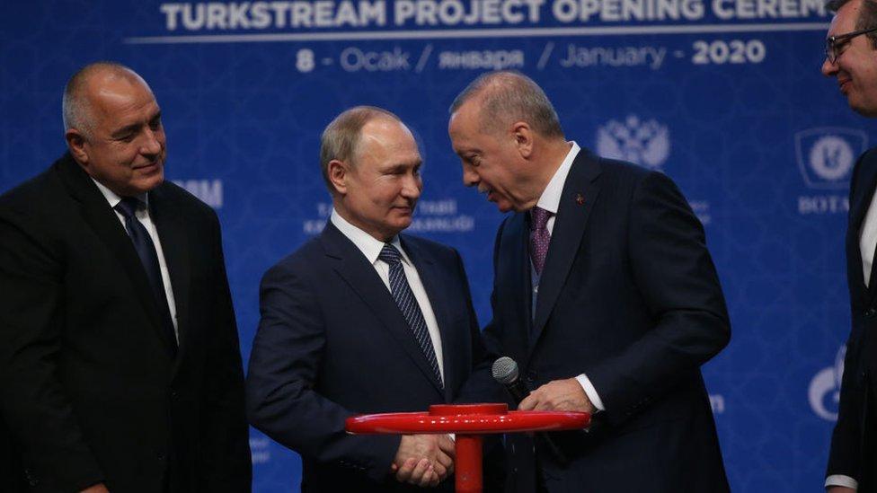 El presidente de Rusia, Vladimir Putin, y su homólogo turco, Recep Tayyip Erdogan