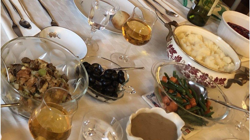 Ryan's Thanksgiving table last yaer