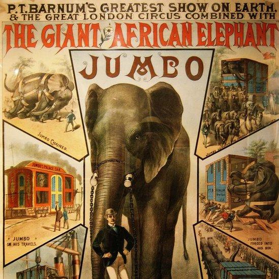 Manifesto del XIX secolo su Jumbo Foto: Wiki Commons