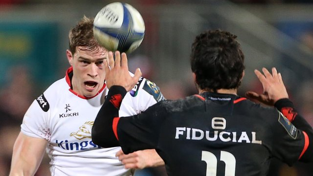 Ulster's Andrew Trimble in action against Toulouse