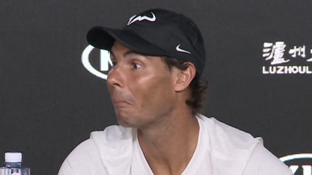 Australian Open: Rafael Nadal catches sleeping journalist in news conference