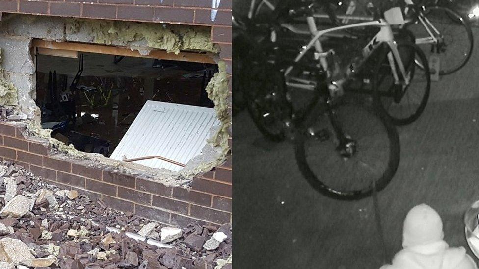 Milton Keynes: Raiders steal 22 bikes from shop
