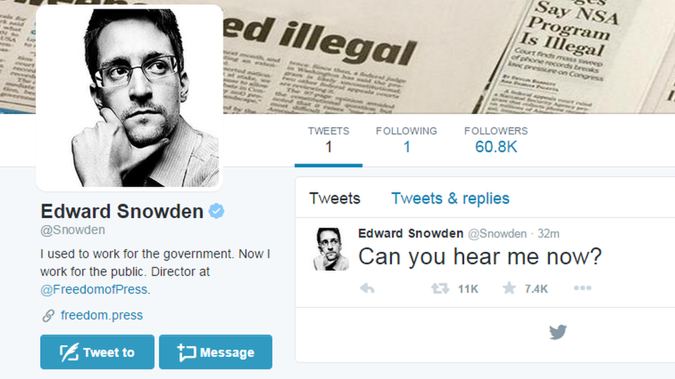 Screen grab of Twitter page