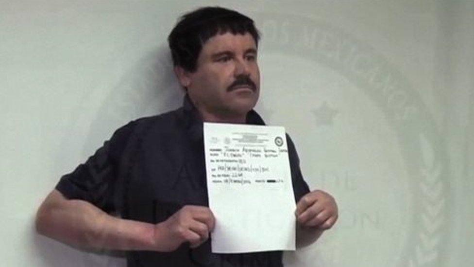 "Video grab released on January 27, 2016 by Mexican General Attorney office, showing Mexican drug kingpin Joaquin ""El Chapo"" Guzman in Altiplano maximum security federal prison in Almoloya de Juarez,"