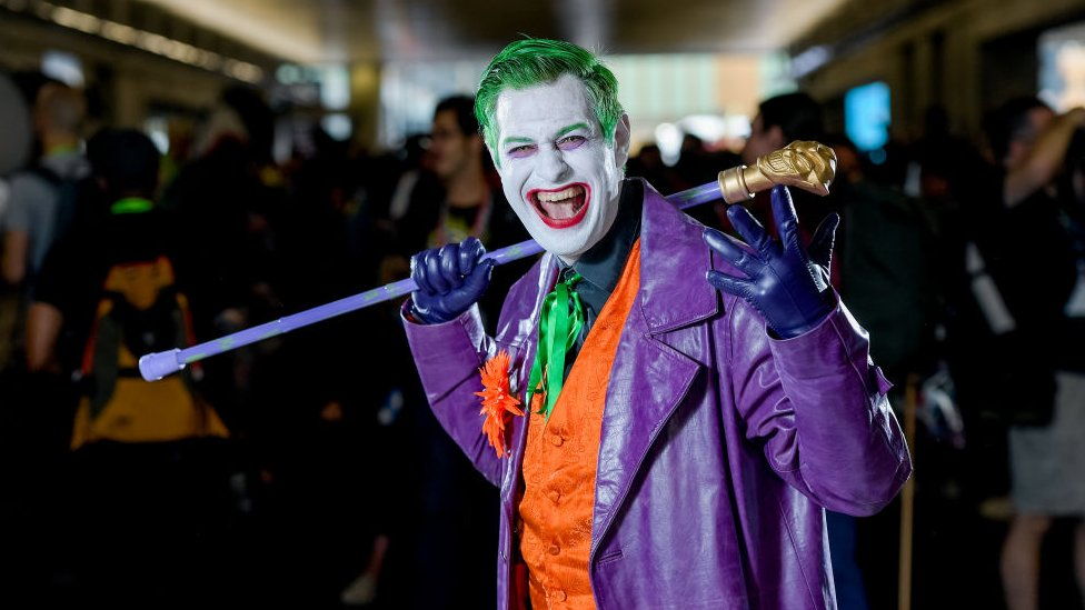 Man dressed as the Joker's classic 1960s incarnation