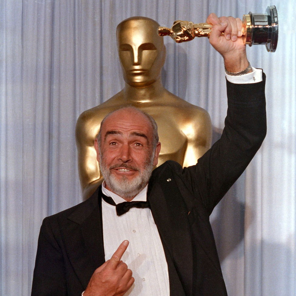 Sir Sean Connery with his Oscar