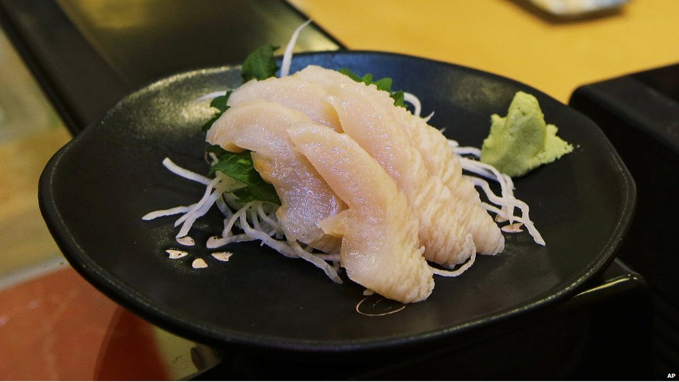 Geoduck served as sashimi in Seattle