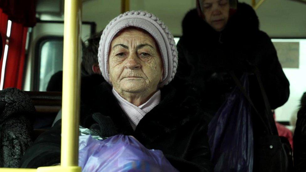 žene u autobusu u Irkutsku