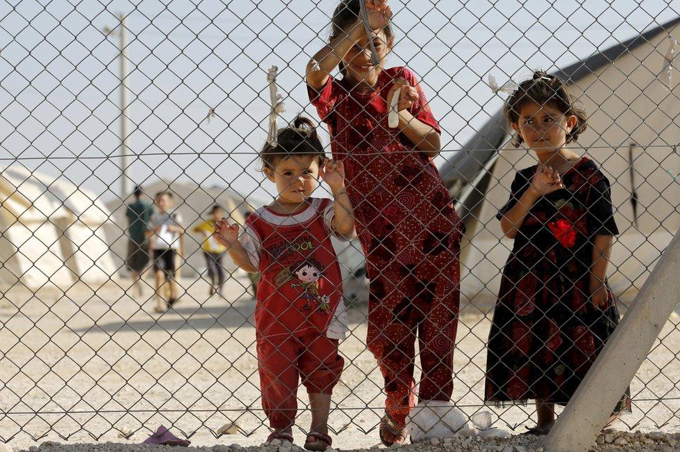 Midyat refugee camp, Turkey - 20 Jun 15