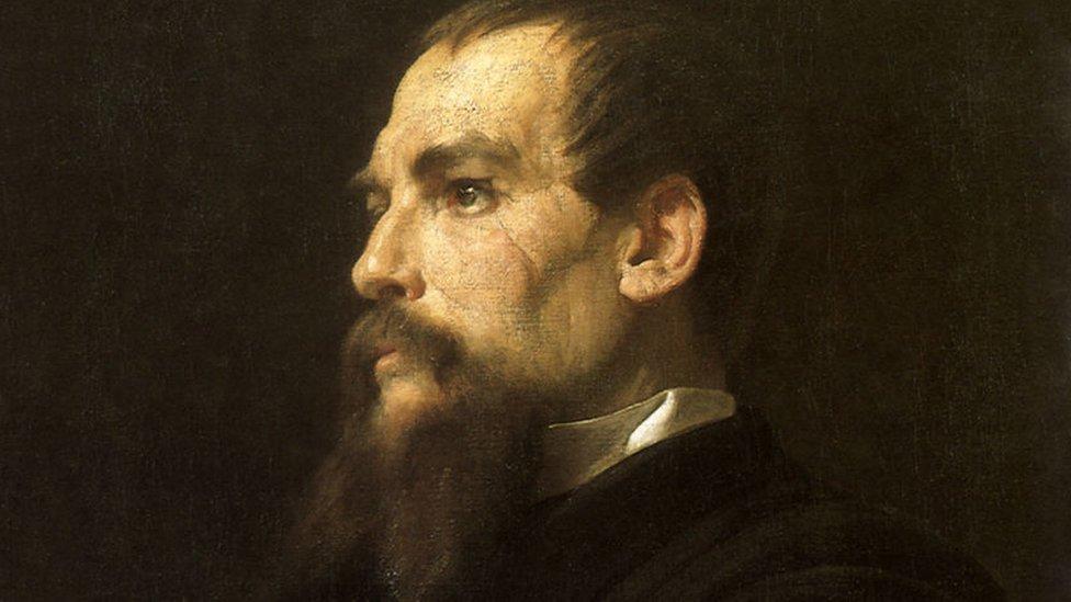 Portret Ričarda Bёrtona.