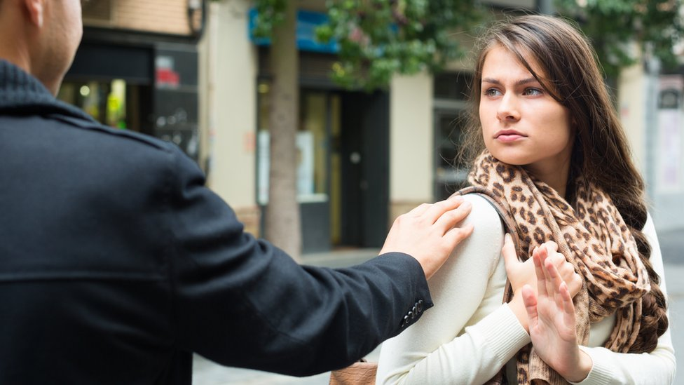 What should you do if you are harassed in public?