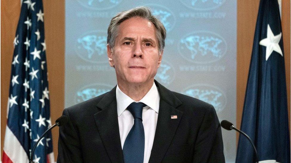 وزير الخارجية الأمريكي أنتوني بلينكن يدلي بشهادة أمام لجنة في الكونغرس