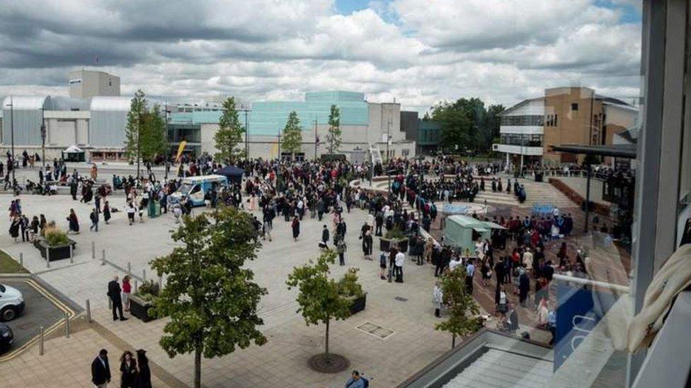 Imagen del campus de la universidad de Warwick, en Inglaterra (Reino Unido).