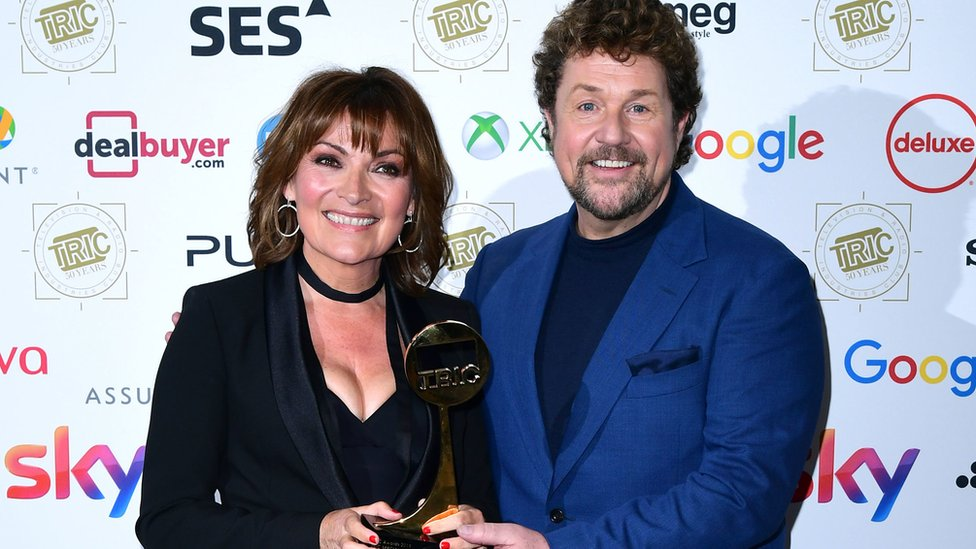 Lorraine Kelly and Michael Ball