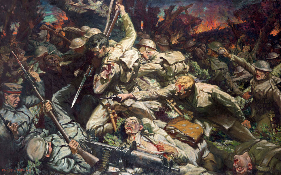 Christopher Williams (1873-1934), The Welsh Division at Mametz Wood, 1916