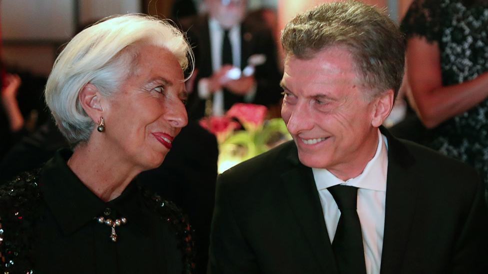 Lagarde y Macri