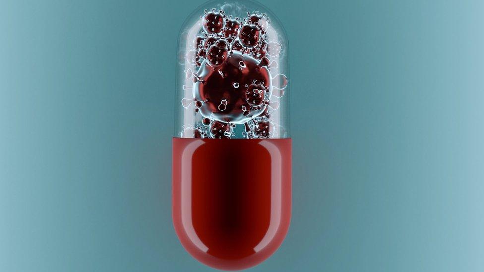 Comprimido com vírus dentro
