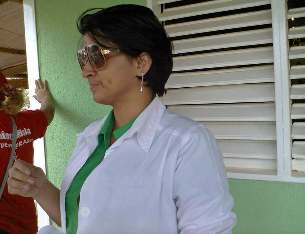 La doctora cubana Dayli Coro en Venezuela