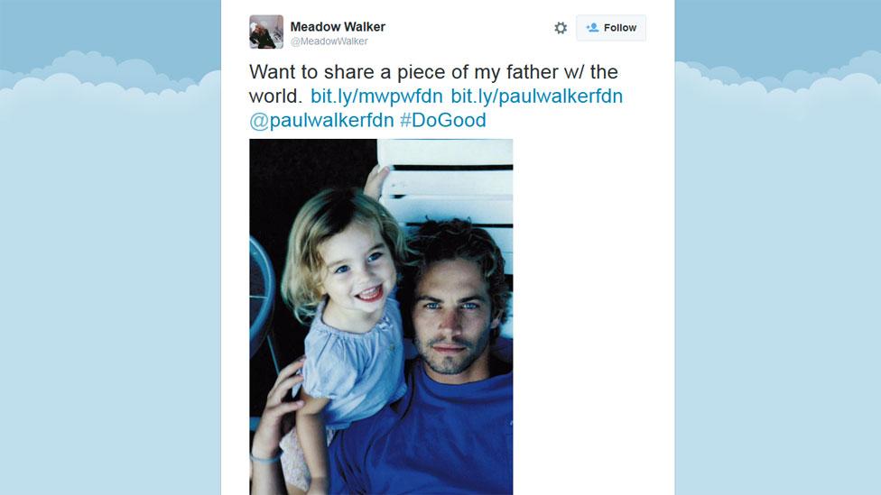 Meadow Walker tweet