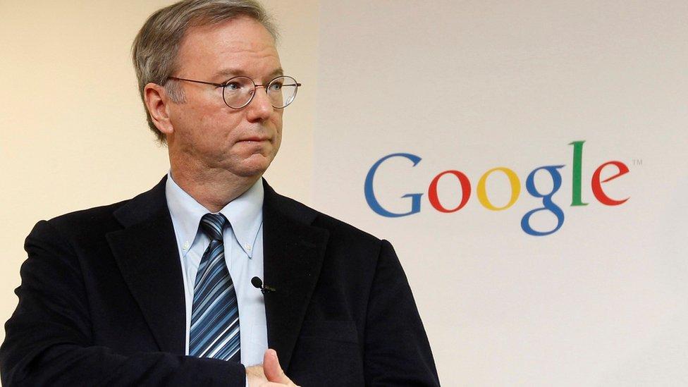 Google executive chairman Eric Schmidt in Seoul on November 7, 2011.