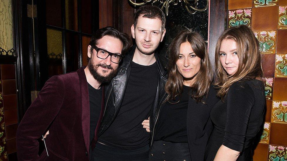 Anna Sorokin en el Tumblr Fashion Honor en The Jane Hotel, Nueva York, en 2014.